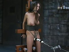 BDSM, Brunette, Orgasm, Tattoo