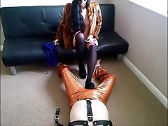 British, Femdom, Foot Fetish, Latex