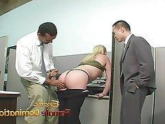 Femdom, Interracial, Masturbation, Mistress