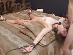 Amateur, BDSM, Bondage, Cum in mouth