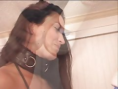 BDSM, Blowjob, Facial, Brunette