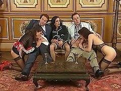 Anal, Blowjob, Brunette, Cumshot