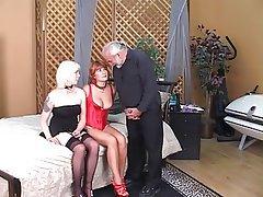 Threesome, MILF, Blonde, Redhead