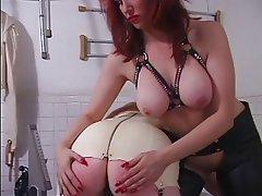 BDSM, Lesbian, Redhead, Latex