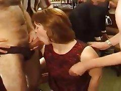 British, Group Sex, MILF, Redhead