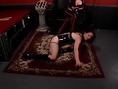 BDSM, Brunette, Latex, Lingerie
