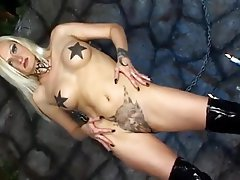 Latex, Lesbian, Masturbation, Tattoo
